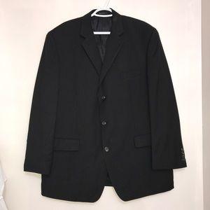 Chaps Moores Black Lined Buttoned Men's Blazer